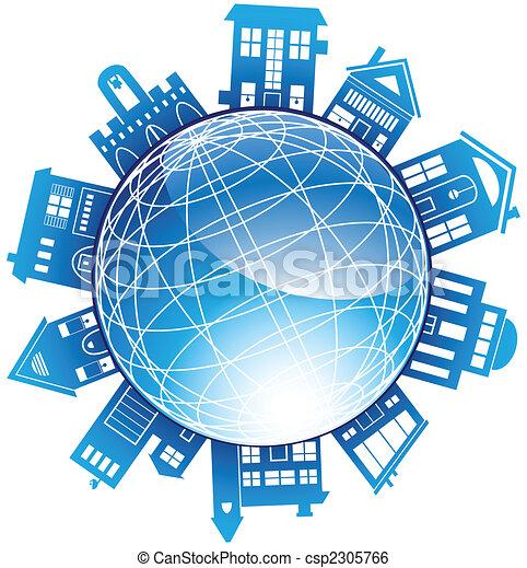 Building Globe - csp2305766