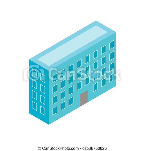 Building icon, isometric 3d style - csp36758826