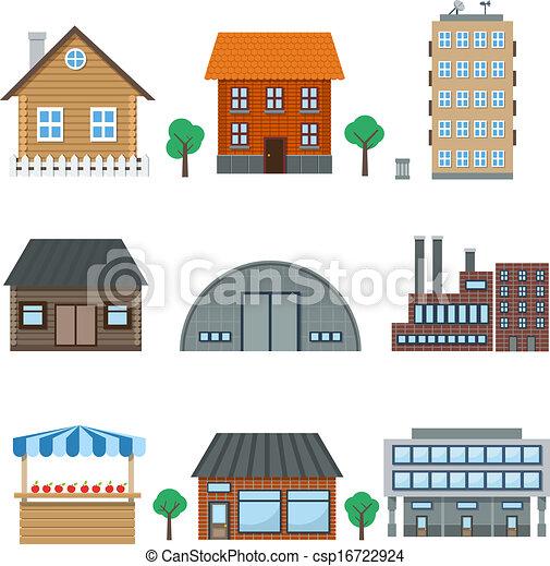 building icons - csp16722924