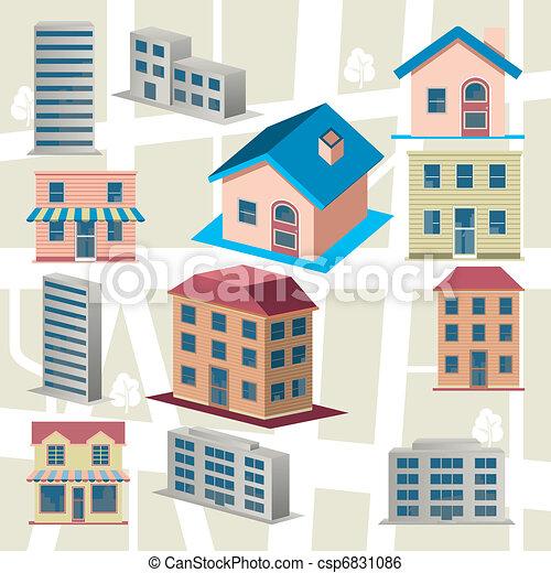 Building icons set - csp6831086