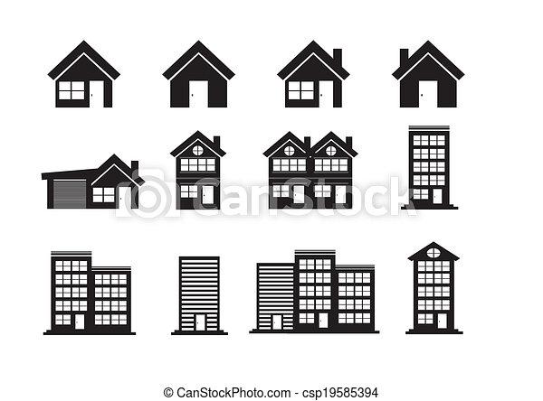 Building Icons Set - csp19585394