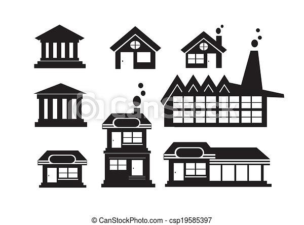 Building Icons Set - csp19585397