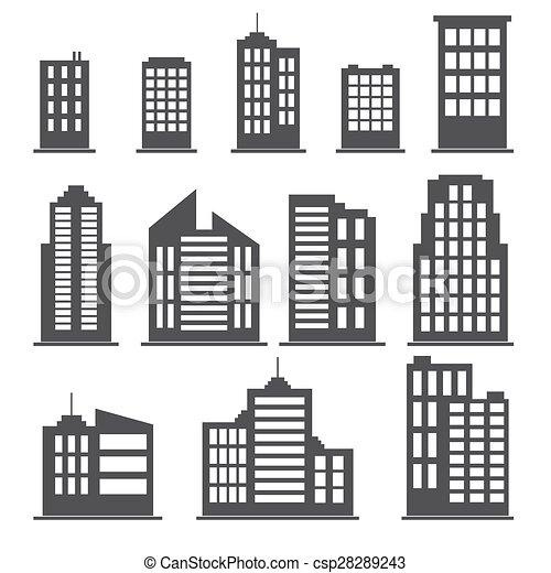 Building icons set - csp28289243