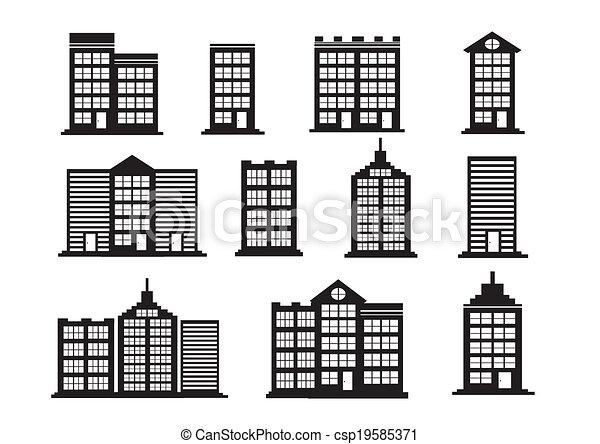 Building Icons Set - csp19585371
