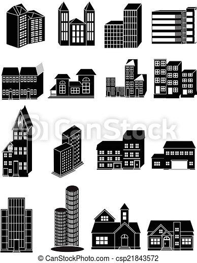 Building icons set - csp21843572