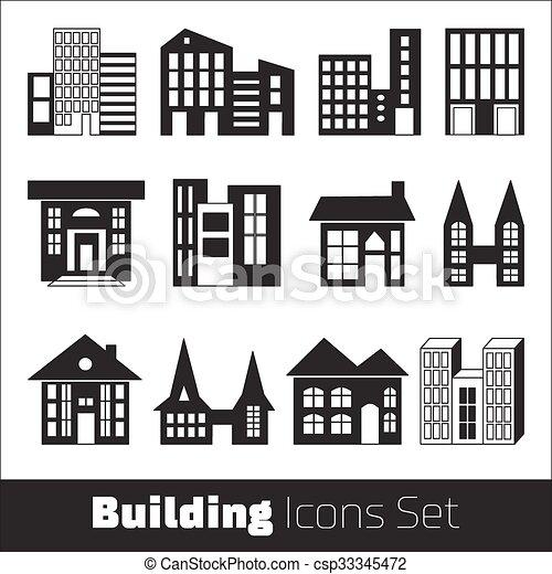 Building Icons Set - csp33345472
