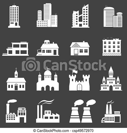 Building Icons Set - csp49572970