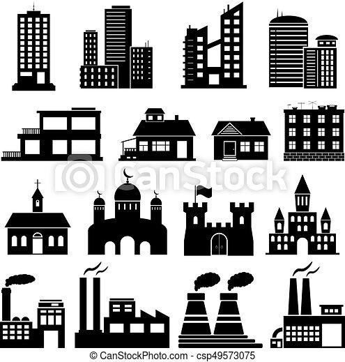 Building Icons Set - csp49573075