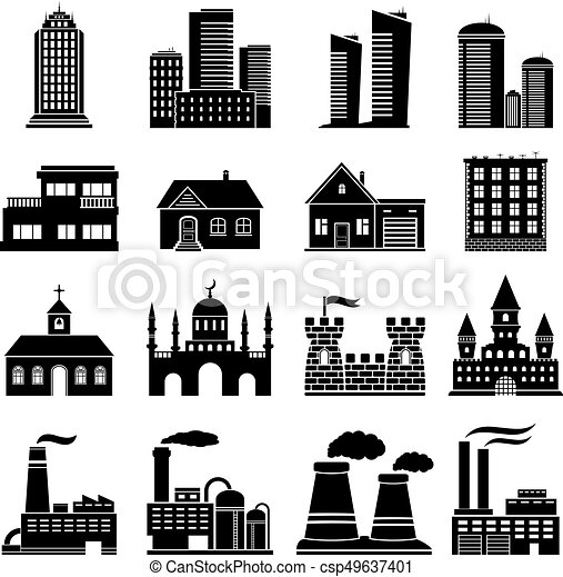 Building Icons Set - csp49637401