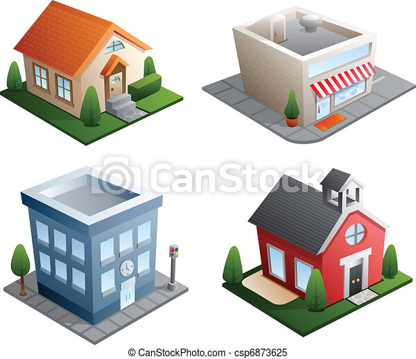 Building illustrations - csp6873625