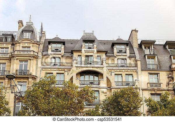 Building in Avenue des Champs Elysees, Paris, France - csp53531541