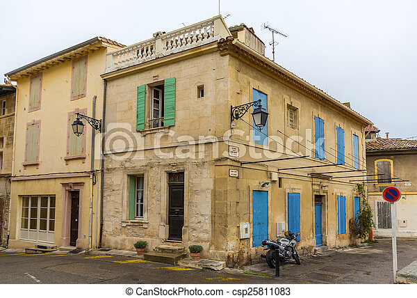 Building in the city center of Arles - France - csp25811083