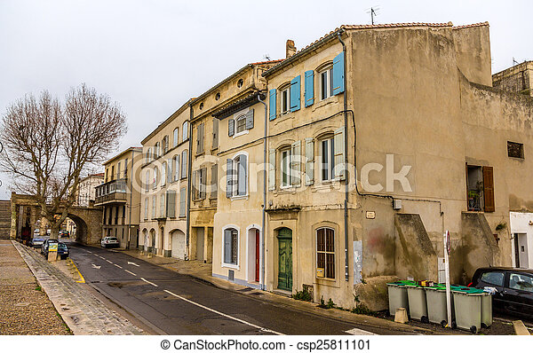 Building in the city center of Arles - France - csp25811101