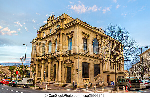Building in the city center of Beziers - France - csp25996742