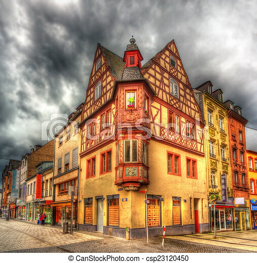 Building in the city center of Koblenz, Germany - csp23120450