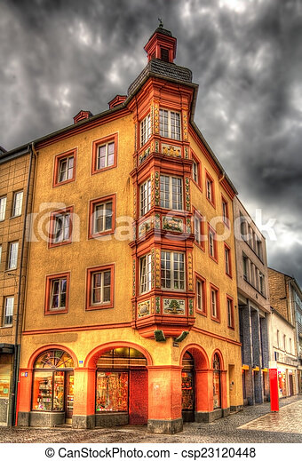 Building in the city center of Koblenz, Germany - csp23120448