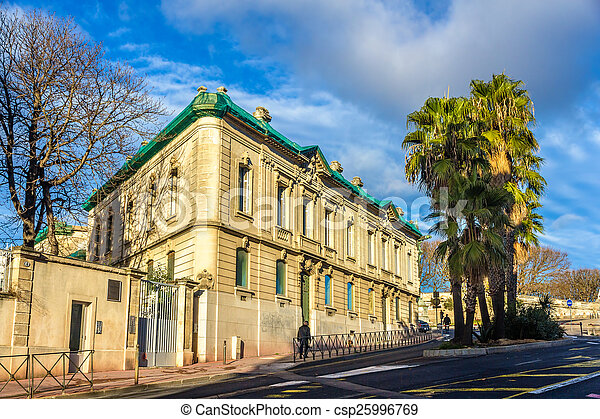 Building in the city center of Montpellier - France, Languedoc-R - csp25996769