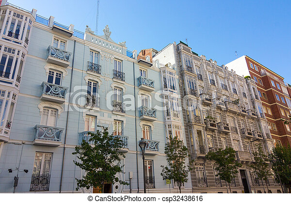 building in the city of Valladolid, Spain - csp32438616