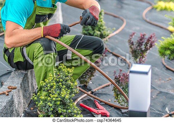Building Irrigation System - csp74364645