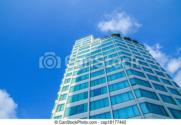 Building on blue sky - csp18177442