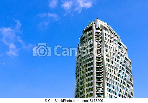 Building on blue sky - csp18175209