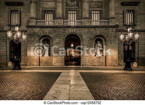Building on Plaza de la Constitucion, Barcelona - csp12458752