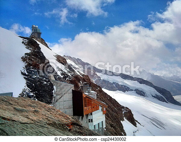Building on the side of a mountain - csp24430002