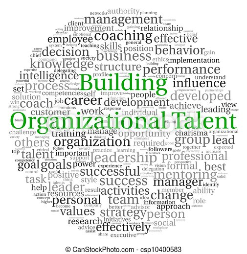 Building Organizational Talent concept in word tag cloud - csp10400583