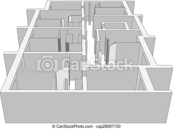 Building plan vector Building plan on isolated white clipart