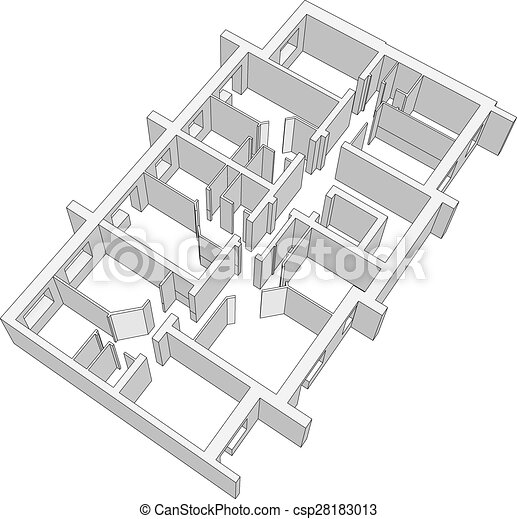 Building plan vector Building plan on isolated white background