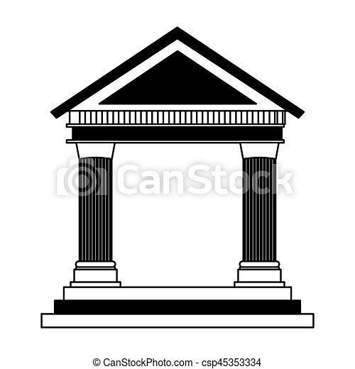 building roman columns icon vector illustration design