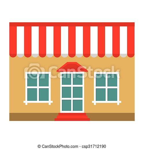 Building shop store flat icon - csp31712190