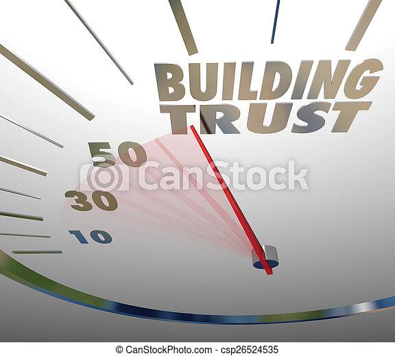 Building Trust Speedometer Reputation Faith Customer Loyalty - csp26524535