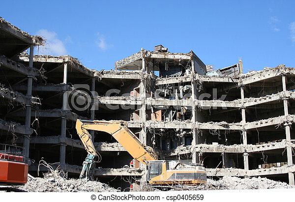 building under demolition - csp0405659
