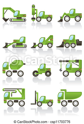 Building vehicles icons set  - csp11703776