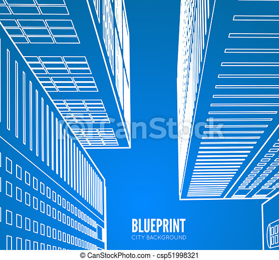 building wireframe 3d render city blueprint illustration