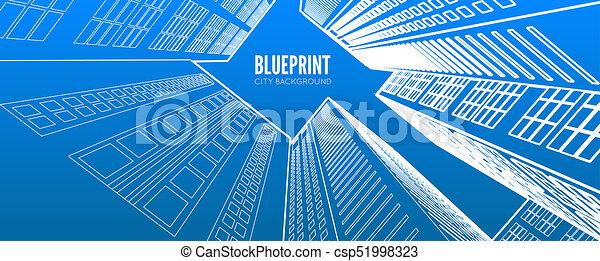 Building wireframe 3d render city blueprint illustration clip art 3d render city csp51998323 malvernweather Choice Image