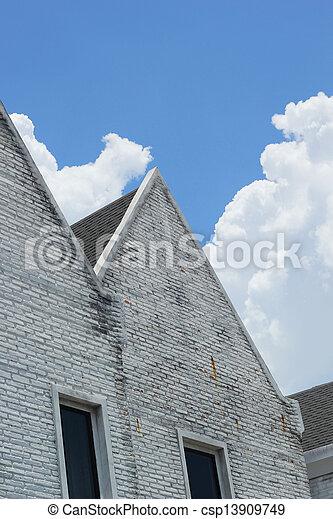 Buildings against the sky. - csp13909749