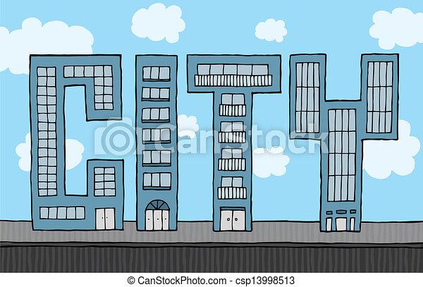 Buildings forming city - csp13998513