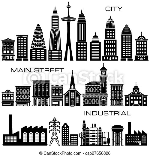 Buildings icon set - csp27656826