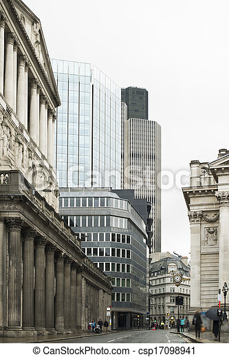 Buildings in city of London - csp17098941