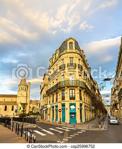 Buildings in the city center of Beziers - France - csp25996752