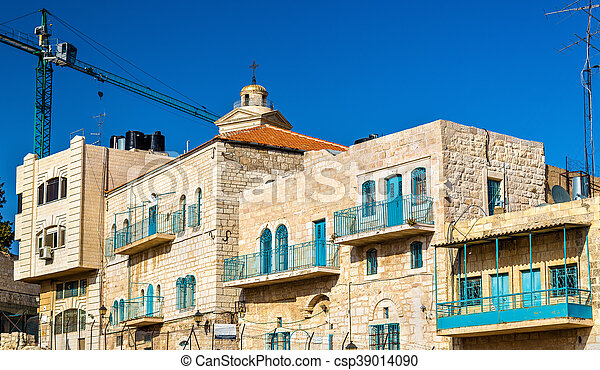 Buildings in the city centre of Bethlehem - csp39014090
