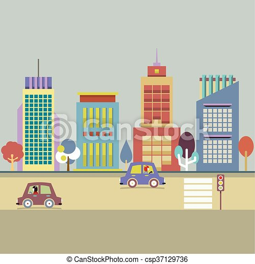 Buildings In The City. - csp37129736