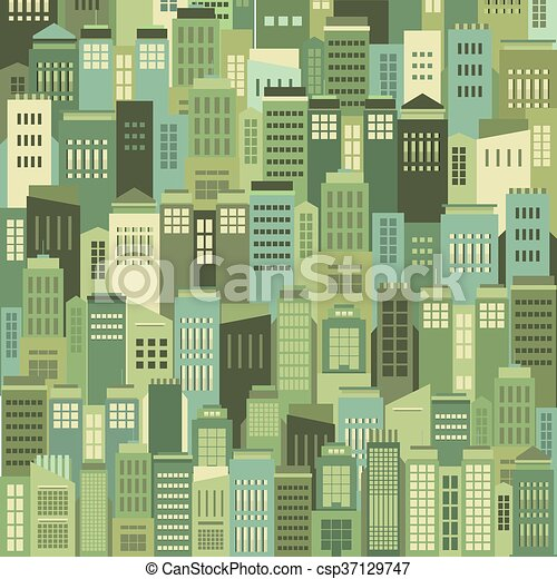 Buildings In The City Pattern. - csp37129747