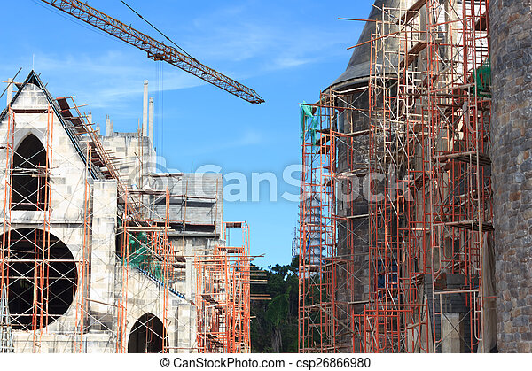 Buildings under construction - csp26866980