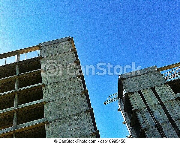 Buildings under construction - csp10995458