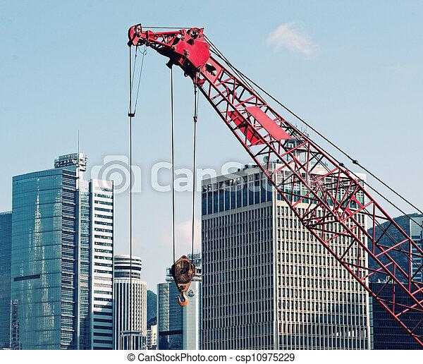 Buildings under construction - csp10975229