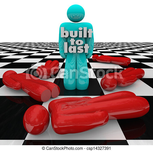 Built to Last Person Standing Winner Strong Determination - csp14327391