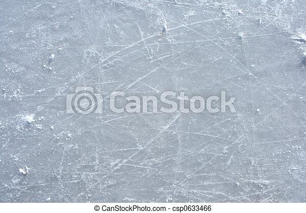 buiten, ijsschaats, oppervlakte, rink, tekens - csp0633466